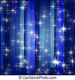white stars in blue - white stars and snowflakes over blue...