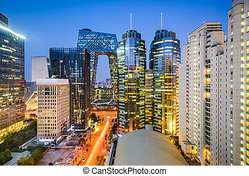 Beijijng CBD Cityscape - Beijing, China Central Business...