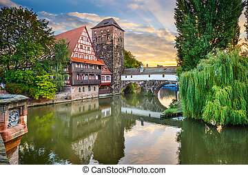 Nuremberg Germany Landmarks - Nuremberg, Germany at...