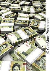 Stack of Iranian Rial