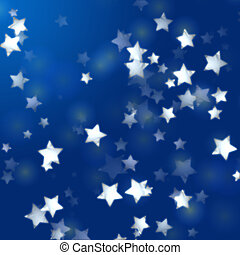 white stars in blue with feather lights