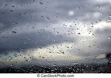 Stormy Day through a Windshield