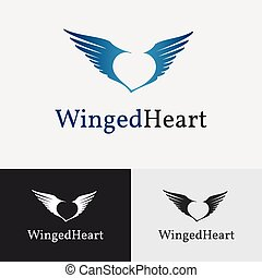 Flying wings Logo template - Flying wings Logo template for...