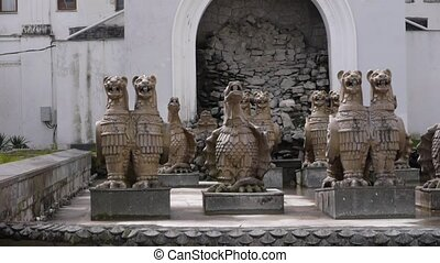 Gryphons Fountain in Sukhumi 1 - Gryphons Fountain in...