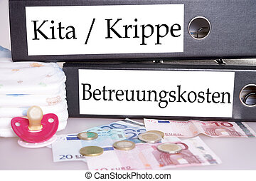 Nursery place - File folders with the german words nursery...
