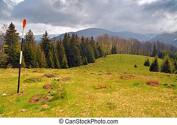 carpathians - mountain landscape in the carpathians