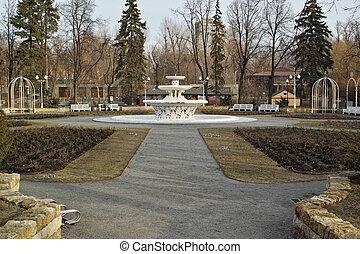 Rosary in Gorky Park in spring