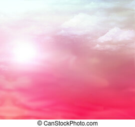 Sunset sky background. - Pink sky sunsetnature background.