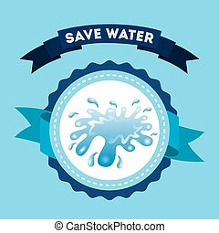 save water design, vector illustration eps10 graphic