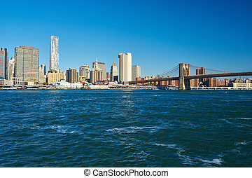 Lower Manhattan skyline view from Brooklyn - Lower Manhattan...
