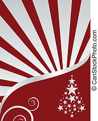 winter scene - christmas card - vector illustration of a...