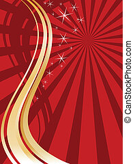 christmas background - vector illustration of waves and...