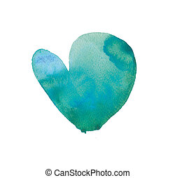 watercolor heart hand made drawing suitable for art designes...