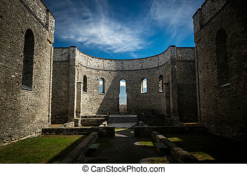 St Raphaels Ruins National Historic Site - Interior of the...