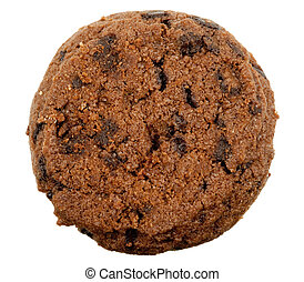 delicious chocolate chip cookie isolated on a white...