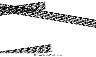 Tire tracks transition - Animation of tire tracks building...
