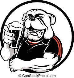 Bull Dog - Great design for Pub/Bar, drinking events for...