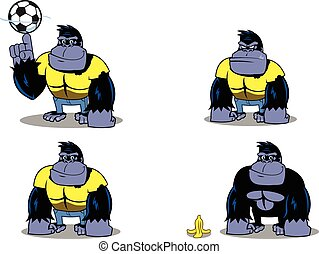 Gorilla illustration for logos, mascots, graphical...