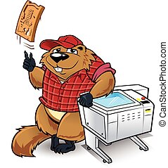 Wood Chuck - This woodchuck character has a laser carver...