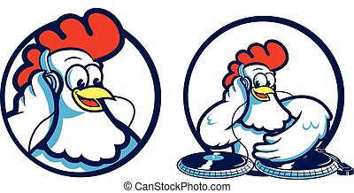 Chicken DJ - A creative design of a DJ Chicken.