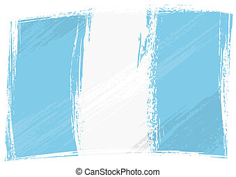 Grunge Guatemala flag - Guatemala national flag created in...