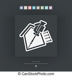 House repair - Vector single icon
