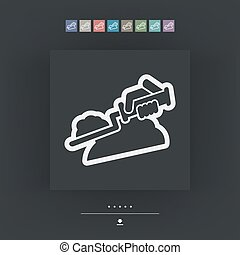 Bricklayer icon - Vector single icon