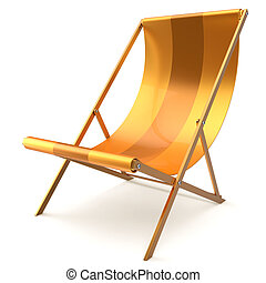 Beach chair yellow chaise longue nobody relaxation abstract...