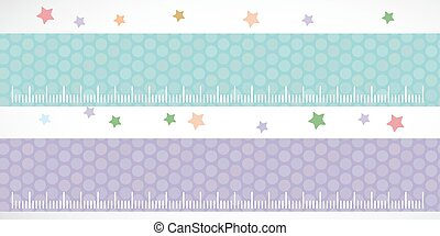 Children height meter wall Sticker set lilac blue. Set...