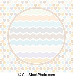 Design cards circle for your text Polka dot background,...