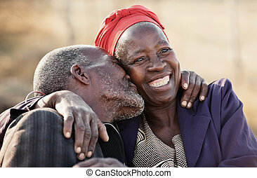 endless love - in love African American couple in their...