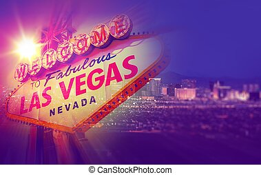 Las Vegas Concept Photo Collage One Night in Vegas with...