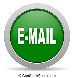 email green glossy web icon
