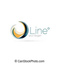 Swirl company logo design. Universal for all ideas and...