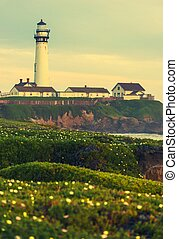 The Lighthouse Vista. California Located Pigeon Point...