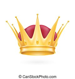 Gold crown - Golden crown isolated on a white background for...