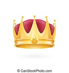 Gold crown - Golden crown on the white background for design...