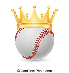 Gold crown on baseball