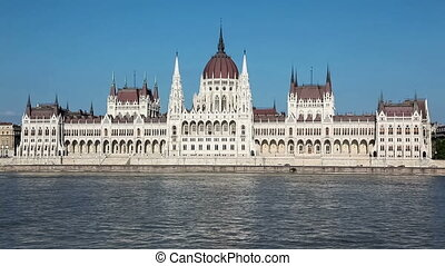 Parliament Building on Danube river - Hungarian Parliament...