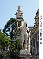 Piazza del Duomo in Catania - Piazza del Duomo with the...