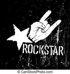 Rockstar symbol, sign of the horns gesture grunge...