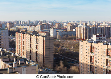 panorama residential areas large modern city