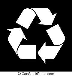 Reuse symbol, isolated on black