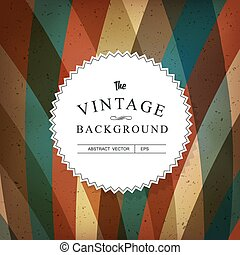 Vintage Colorful Abstract Vector Background Template