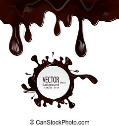 chocolate drips seamless patterns a - Set vector chocolate...