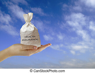 Bag with health insurance