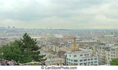 View on Paris from roof, France