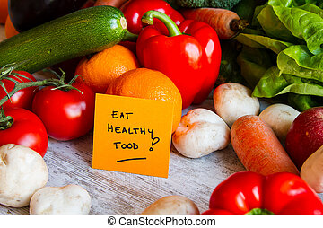 Eat Healthy Food - Eat healthy food, vegetables and fruits...
