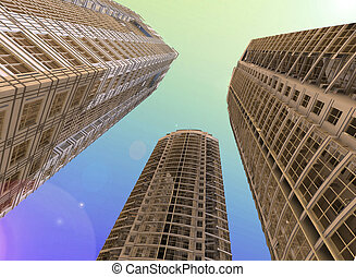 Skyscrapers3d render
