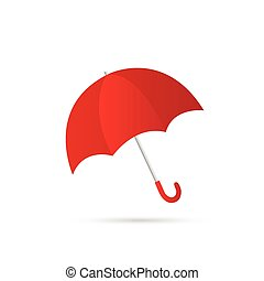 Umbrella Illustration - Illustration of a colorful red...